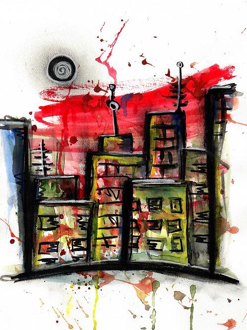 Bleeding City Limited Edition Print