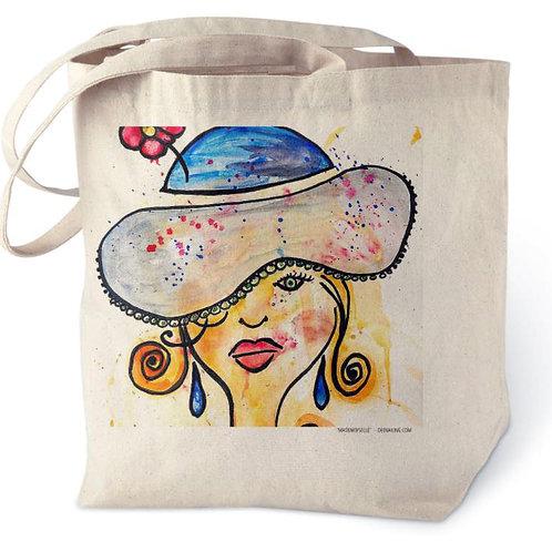 Mademoiselle Cotton Tote Bag
