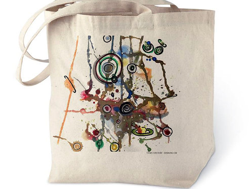 Cosmic Explosion Cotton Tote Bag