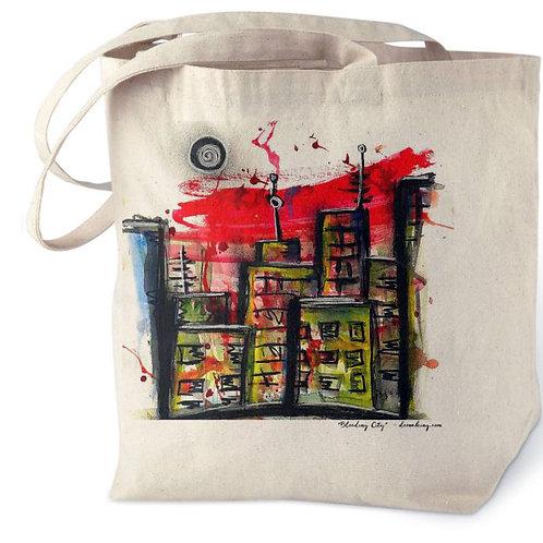 Bleeding City Cotton Tote Bag
