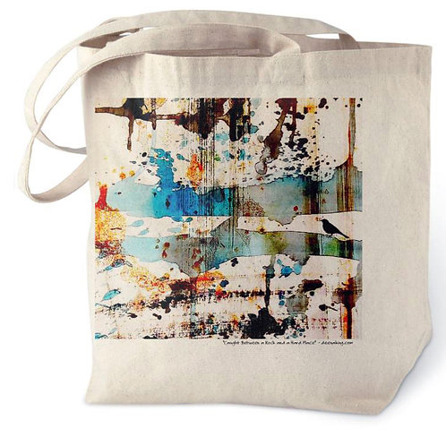 Caught Between a Rock and a Hard Place Tote Bag