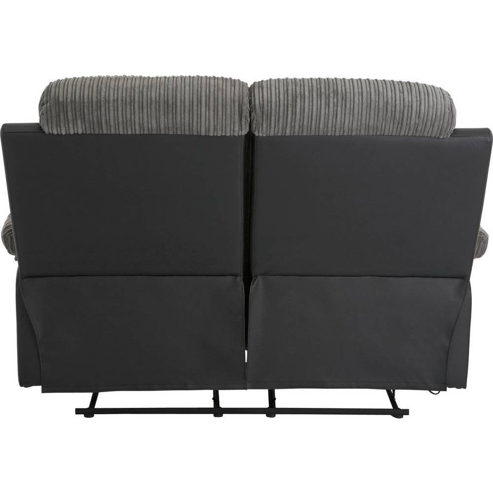Home Bradley 2 Amp 3 Seater Recliner Sofa Charcoal