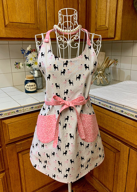 Reversible Cotton Apron  - Oodles of Poodles