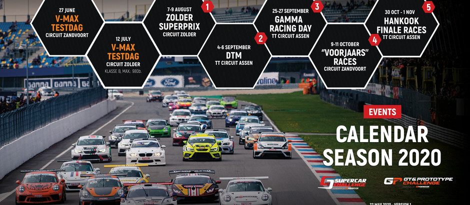 Alex's racing season set to start in August, as new Supercar Challenge calendar is published
