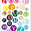 "Thumbnail: Printable Wall Art - Multi Color Dot Alphabet - 8.5""x10"""