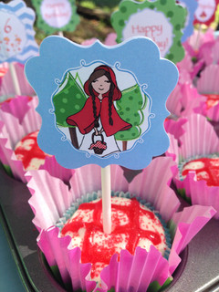 Menalove Red Riding Hood Birthday Cake Topper