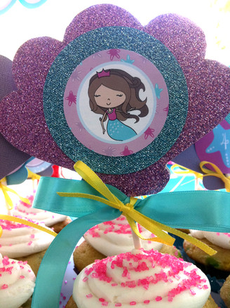 Menalove Mermaid Birthday Cake Topper