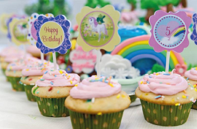 Menalove Unicorn Rainbow Birthday Cake Toppers