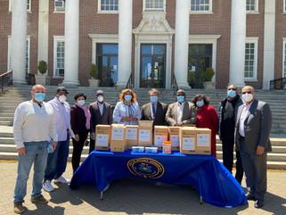 Latimer Delivers Masks Donation to Mount Vernon