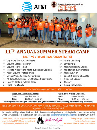 STSI to Host Its 11th Annual Summer  STEAM Camp for Girls – July 6-17