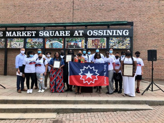 Ossining Raised the Official Juneteenth Flag for the First Time in Our History