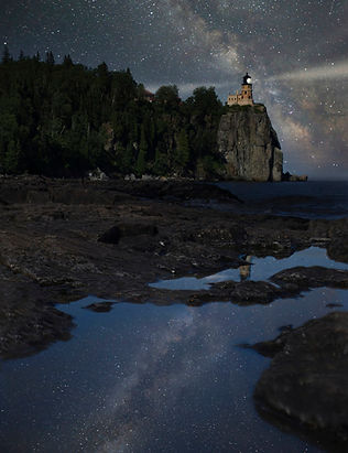 Split Rock Lighthouse - Lake Superior - Milky Way - Astrophotography