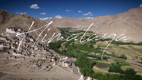 Aerial video of buddhist monastery