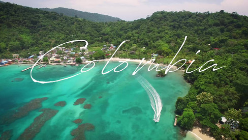 Aerial video of caribbean sea