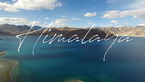 Aerial video of himalayan lake