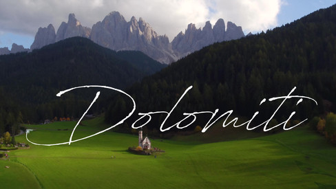 Aerial video of Dolomiti