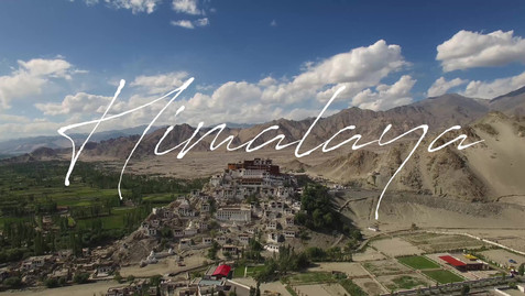 Aerial video of buddhist monastery