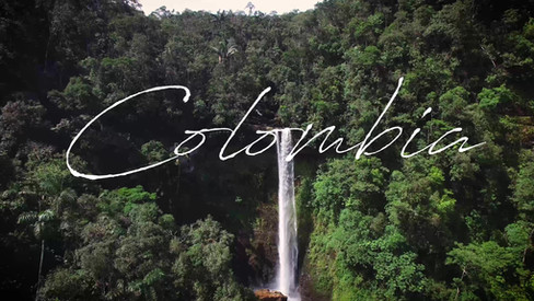 Aerial video of amazon waterfall