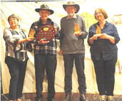 Toodyay Shire President Rosemary Madasci presented the trophies to WA State Champions John Hayes (winner) Roger Cracknell (RU) and Christine Boult (3rd)