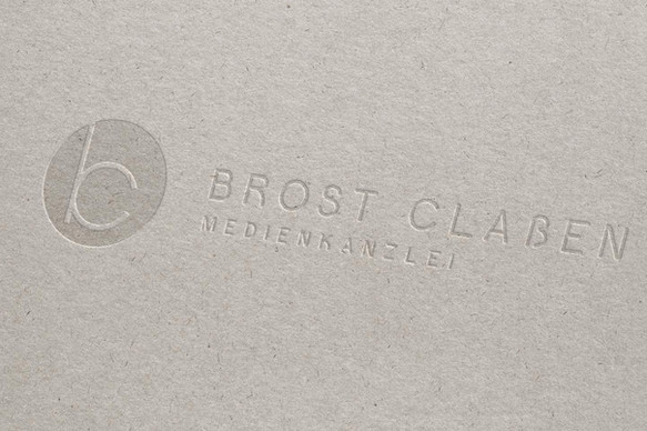 """Logodesign für die Medienkanzlei """"Brost Claßen"""""""