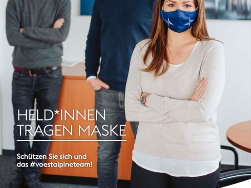 """Fotos zur aktuellen Kampagne """"HeldInnen tragen Maske"""" von voestalpine"""