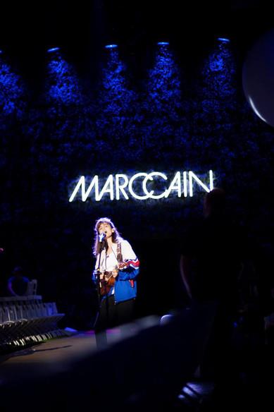 """Dokumentation des Fashion Week Auftrittes von Marc Cain. Hier im Bild: Die israelische Indiepop Band """"Lola Marsh"""""""