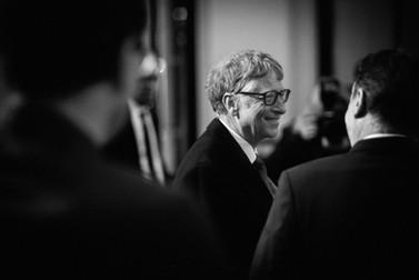 Bill Gates besucht das Museum Barberini in Potsdam
