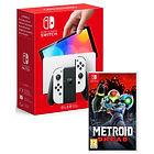 Pack Console Nintendo Switch OLED (Blanche ou Néon) + Jeu Metroid Dread