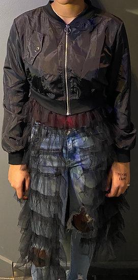 Fashion Zipper Long Coat