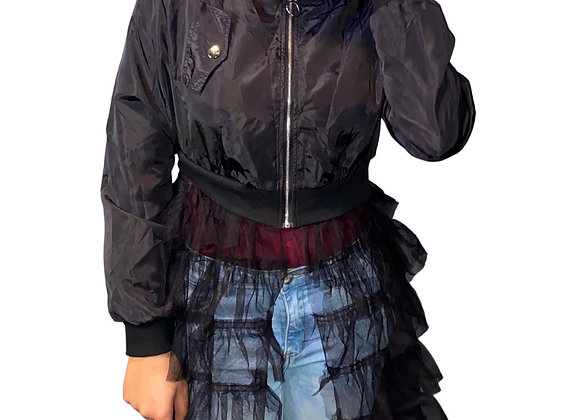 Trendy Sheer Too Cute Shirt Jacket