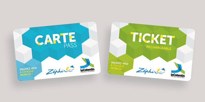 Carte et ticket de transport Zéphir
