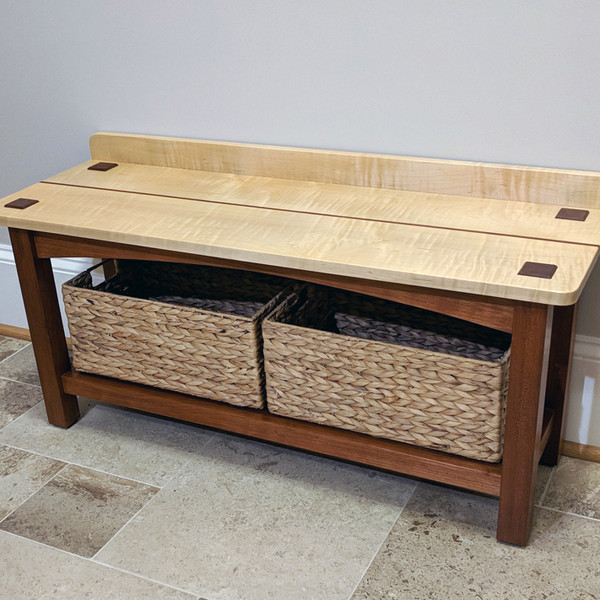 Bench with Baskets