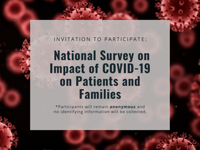 National Survey on Impact of COVID-19 on Patients and Families