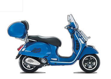 scooter with tail box or top box