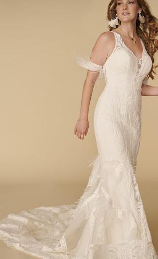 Tarly Arm Cuff with Rowen Wedding Dress