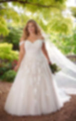 Essense of Australia D2605 at Fairytales Bridal Boutique - Plus size wedding dresses