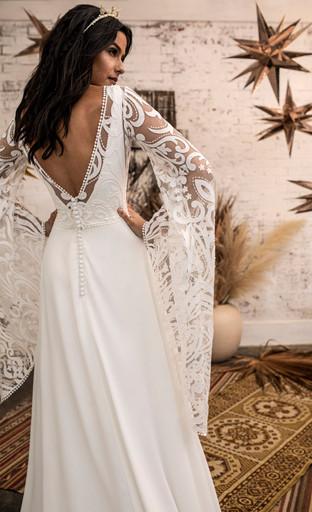 Kaci Jacket with Tess Wedding Dress