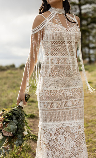 Wren Jacket with Asher Wedding Dress