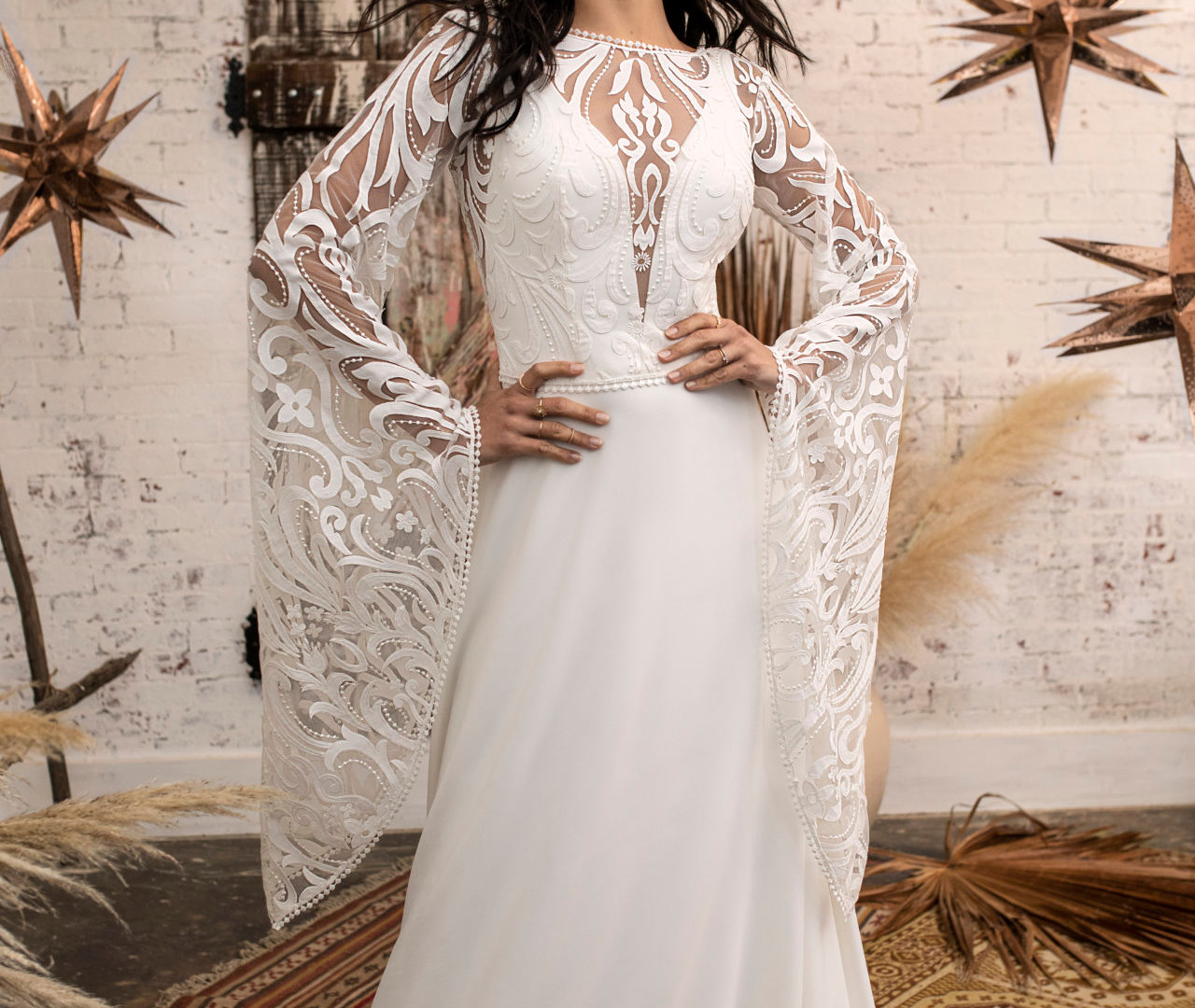 Kaci Jacket with Tess Wedding Dress
