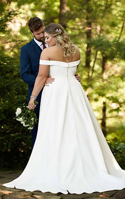 D2761Essense of Australia available at Fairytales Bridal Boutique Melbourne. Plus size wedding dresses Melbourne.