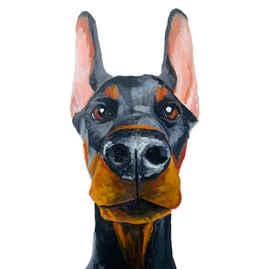 Doberman Custom Portrait by Teresa Curella Art
