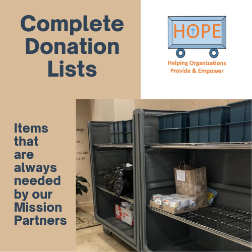 View or Download Complete Mission Partner Donation Lists