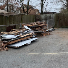 Debris is ready to be hauled away