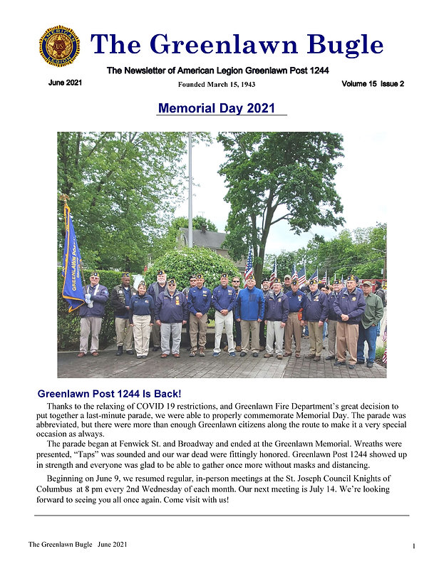 Greenlawn Bugle June  2021 Page 1.jpeg