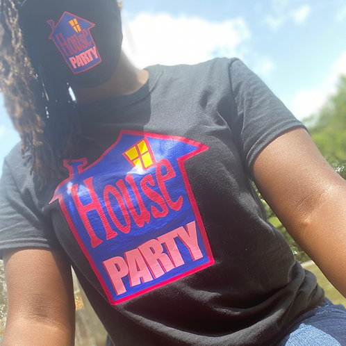 House party shirt and mask