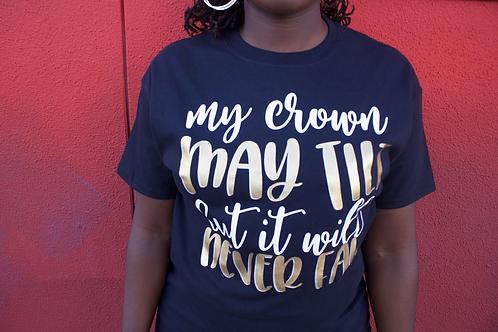 My crown may tilt