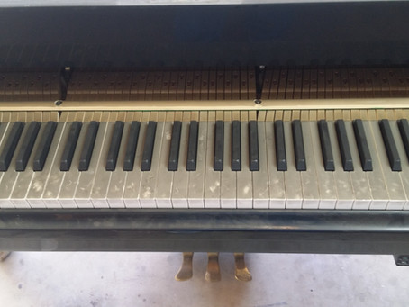 Fire Damaged Piano