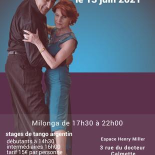 stages de tango argentin + milonga à Clichy