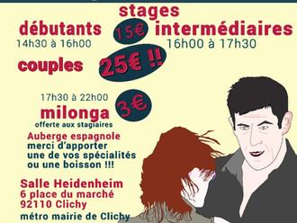 stages & milonga Auberge Espagnole