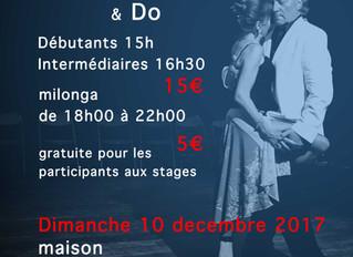 stage special milonga Traspie dimanche 10 décembre